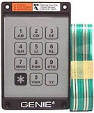 Genie Garage Door Opener Replacement Keypad and Ribbon for (Replacement Keypad)