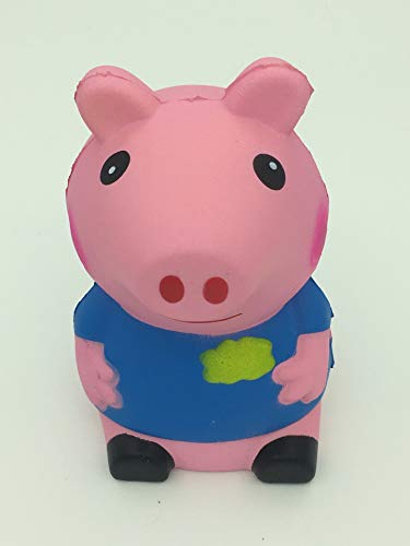 (SHIYING Squishy Cute Pig Kawaii Cream Scented Squishies ,Slow Rising Squishies Charms Stress Reliever Toy)