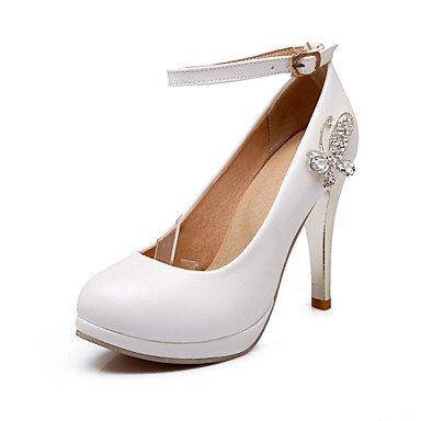 Le donne sexy elegante sandali donna tacchi Primavera Estate Autunno Inverno scarpe Club PU Office & Carriera Party & abito da sera Stiletto Heel strass rosa nero bianco , rosa , noi6.5-7 / EU37 / uk4