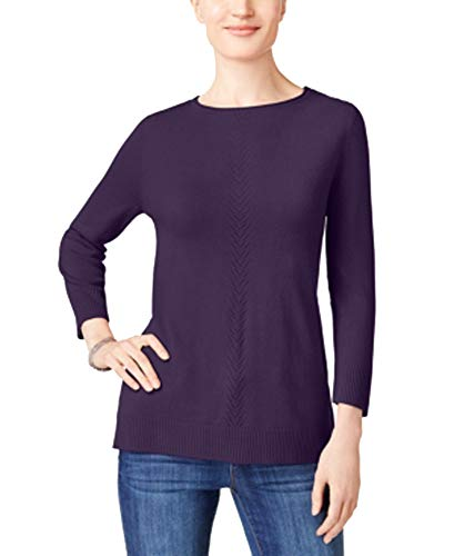 (Karen Scott Luxsoft Rolled-Neck Sweater (Purple Dynasty, M))