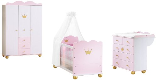 Pinolino 101655G - Kinderzimmer Prinzessin Karolin I, mit 3-türigem ...