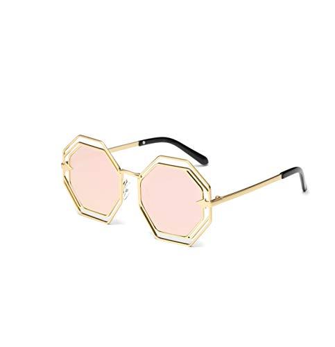Sunglasses Women Sunglass Alloy Frame Gradient Mirror Len Unisex Female Male Eyewear UV400,Pink (Sonnenbrille Lanyard)