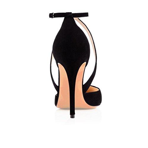 Kolnoo Femme Kolnoo Schwarz Chaussures Chaussures Compensées R4pRrq