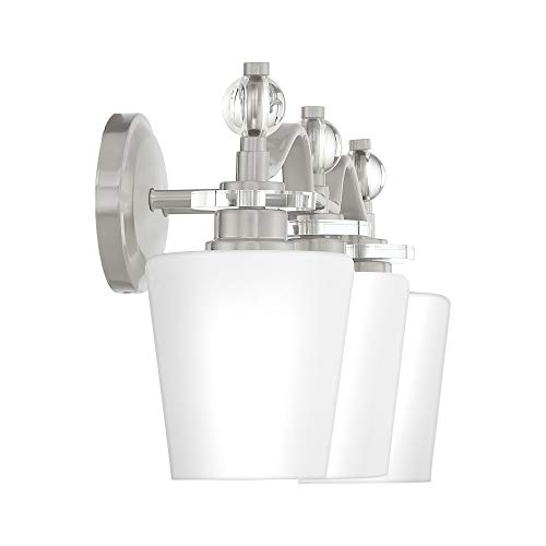Quoizel HS8603C Hollister Vanity Bath Lighting, 3-Light, 300 Watts, Polished Chrome (10'' H x 23'' W) by Quoizel (Image #2)