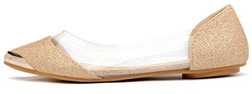 Donalworld Femmes Ballet Chaussure Arc Pointu Fourre-tout Confort Chaussures Plates Sy2