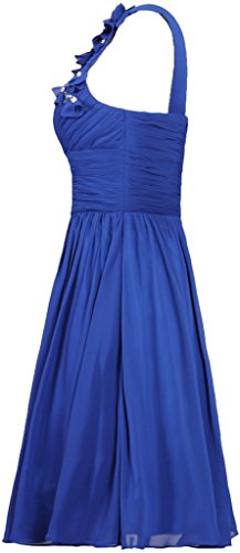 Dress Short Chiffon ANTS One Evening Dress Silver Prom Women's Shoulder YCYX1Zq
