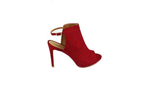 Scarpe Da Donna Con Cinturino Sottile Love-92m Con Cinturino Sottile Alla Caviglia E Punta Aperta Rossa