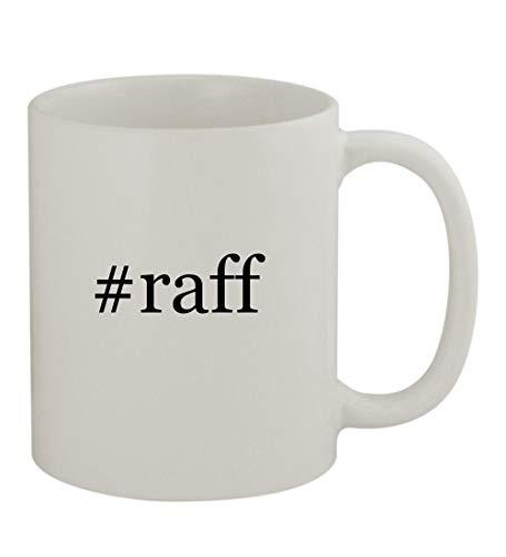 #raff - 11oz Sturdy Hashtag Ceramic Coffee Cup Mug, White