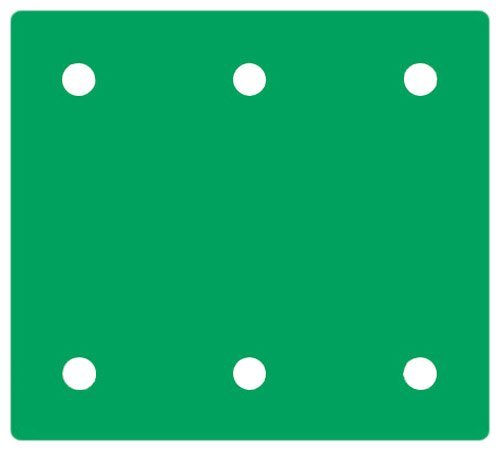Hitachi 310346 4-3/8-Inch by 4-Inch Perforated Hook and Loop Sandpaper with AA150 Grit, 10-Pack