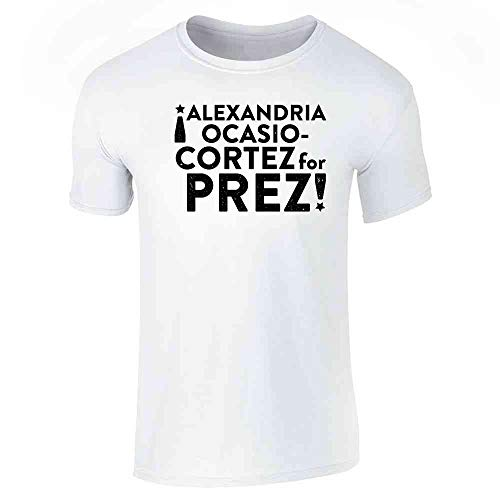 Alexandria Ocasio Cortez for Prez! President White S Short Sleeve T-Shirt]()