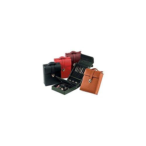 (Royce Leather Ladies Pocketbook Jewelry Case - Black )