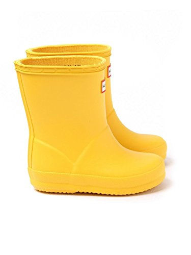 Hunter First (Toddler/Little Kid), Sunlight 9 - Yellow Hunter Rain Boots