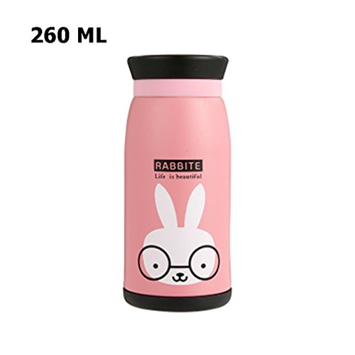 Baby Insulated Cup Vacuum Flask Stainless Steel Portable Lea