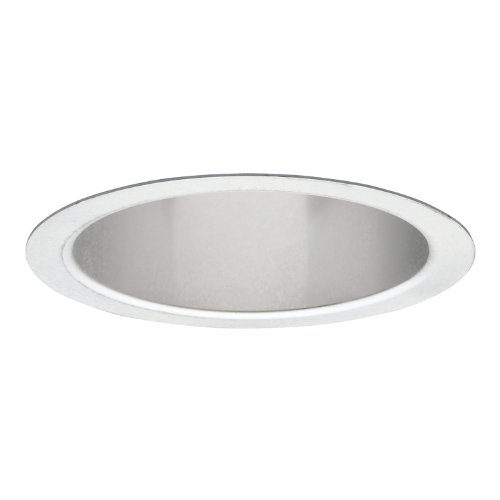 (HALO Recessed 405H 6-Inch Socket Supporting Trim with Haze Reflector, White)