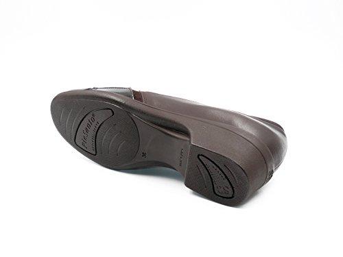 7613 Coco Mujer Caoba Piel 116 Piesanto Combinado Mocasín Laterales Color Con Elásticos Tipo Zapato aq7wRx