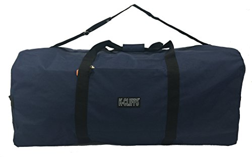 K-Cliffs Heavy Duty Cargo Duffel Large Sport Gear Drum Set Equipment Hardware Travel Bag Rooftop Rack Bag 42 Inch Navy (Equipment Sports Bag)