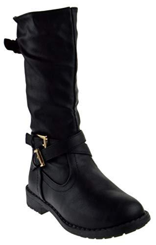 - Lucky Top Vanida 1k Little Girls Riding Zip Up Boots Black 2
