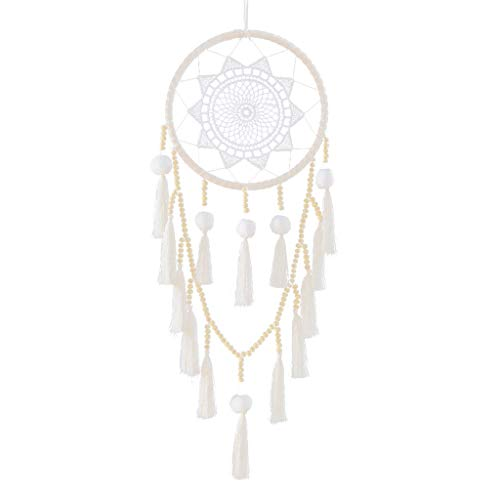 ❤️Jonerytime❤️Handmade Dream Catcher Feathers Decoration for Car Wall Hanging Room Home Decor Silver from Jonerytime_Home & Garden