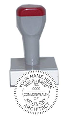 (HUBCO Standard Professional Architect Seal Hand Stamp (1.75-inch Image Size) | Kentucky)