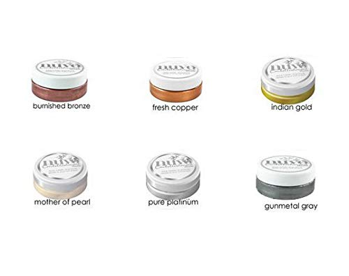 Nuvo Embellishment Mousse Bundle #4 - ''Treasured'' - 2.2 oz Each of Colors Burnished Bronze, Fresh Copper, Indian Gold, Mother of Pearl, Pure Platinum, and Gunmetal Grey