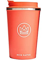Neon Kactus Insulated Reusable Coffee Cup/Travel Mug - Dream Believer 380ml