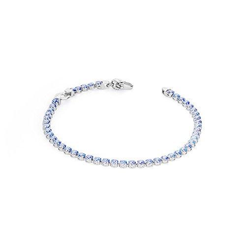 Rosé Tennis Bracelet Femme-Argent-Oxyde de Zirconium Bleu-18 (taille) BR22B