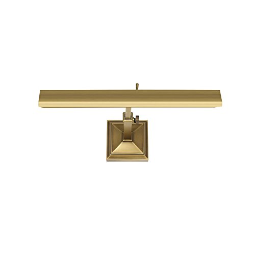 - WAC Lighting PL-LED14-27-BB 14in Burnished Brass Hemmingway LED Picture Light, Small, Brushed