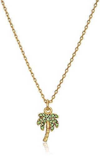 Kate Spade New York Womens Pave Palm Tree Mini Pendant Necklace, (Pave Palm Tree)
