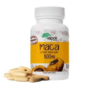 Kapok Naturals Maca Root (100 x 800mg Maca Root Tablets) Peruvian Maca Root for Men & Maca for Women. Alleviate Stress, Fatigue and Increase Energy. Maca Root Pills also available in Maca Capsules