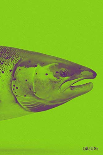 Salmon: Atlantic Pacific Fly Fishing (Green) Daily Notebook Journal Diary Notepad