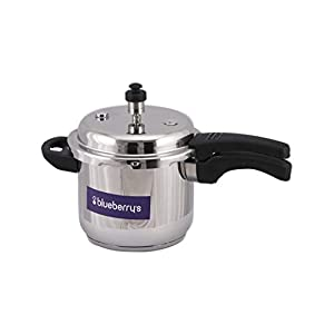 Blueberry's Virginia Stainless Steel Induction Base Outer Lid Pressure Cooker (Silver, 5 LTR)