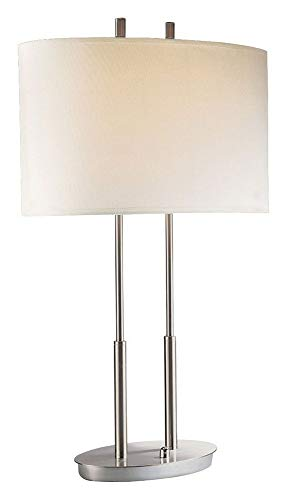 George Kovacs P184-084, Portables Tall Table Lamp, 2 Light, Brushed Nickel