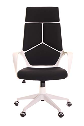 Cheap  TimeOffice Ergonomic Office Chair with Armrest And Matt White Color Frame –..
