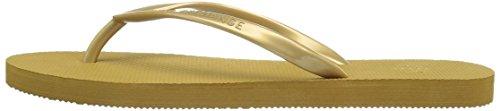 A X Armani Exchange Women's Armani Exchange Classic Flip Flop, Gold, 8 M US Photo #2