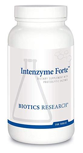 Biotics Research Intenzyme ForteTM - Proteolytic Enzymes, Pancreatin, Bromelain, Papain, Lipase, Amylase, Protein Metabolism. 500 -