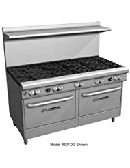 Southbend 4601DD 4GL 60 Ultimate Restaurant Gas Range W 2 Standard Burners 48 Left Griddle 2 Standard Ovens