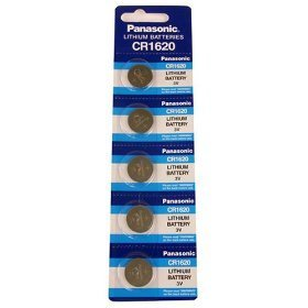 Panasonic Lithium Battery CR1620 Pack of 5 Batteries (Cr1620 Battery 3v Panasonic compare prices)