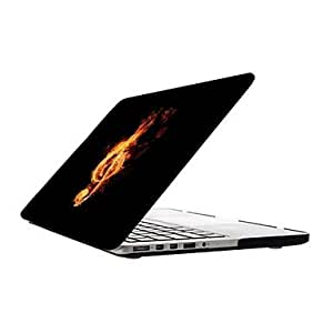 GJY Music in the Fire Design Full-Body Protective Plastic Case for 13-inch/15-inch MacBook-Pro with Retina Display , 15 inch