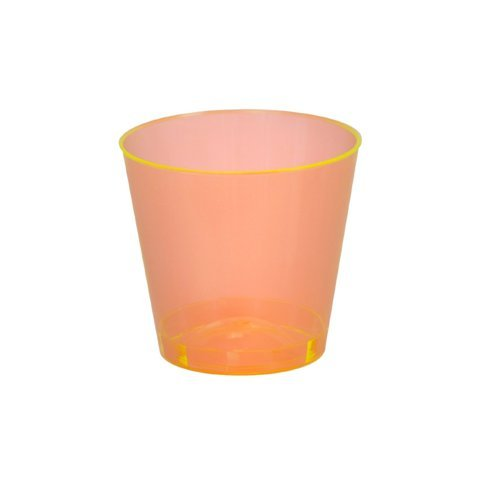 2 Oz Plastic Shot Glass - 2500 per case (Orange) by Fineline settings