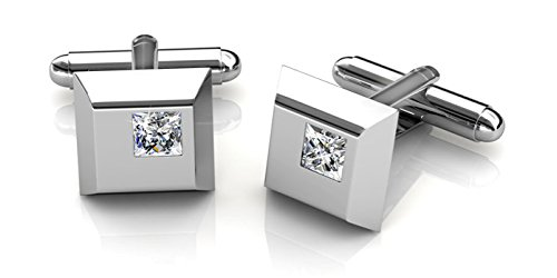 (Her Jewellery Men's Cufflinks Square (Crystals From Swarovski))