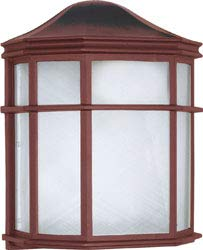 Replacement for 60/538 1 Light 10 INCH CAGE Lantern Wall Fixture DIE CAST Linen Acrylic Lens Old Bronze Bulk Head ()