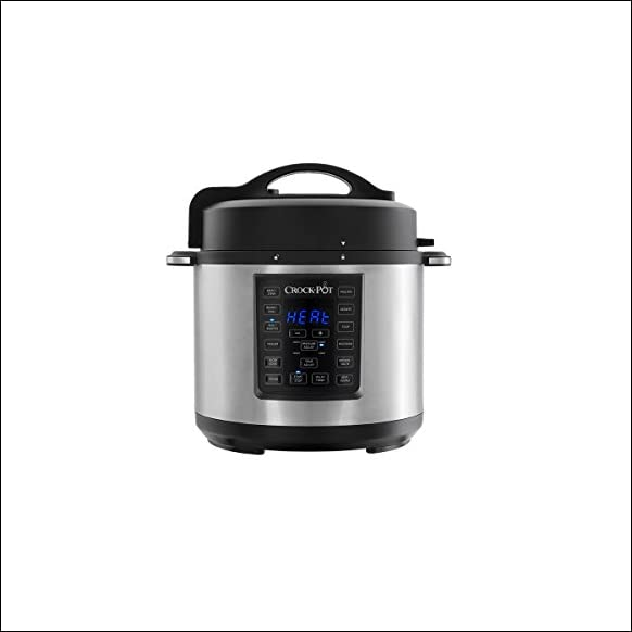 Crock-Pot 6 Qt 8-in-1 Multi-Use Express Crock Programmable Slow Cooker, Pressure Cooker, Saut?, and Steamer, Stainless Steel (SCCPPC600-V1)