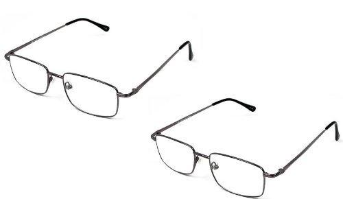 2 Pairs Designed for Men +1.25 Strength Magnivision By Foster Grant Titanium Premium Reading Glasses by Magnivision