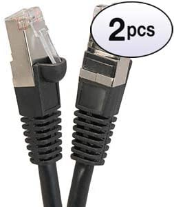 24AWG Network Cable with Gold Plated RJ45 Snagless//Molded//Booted Connector 350MHz 9 Feet - Black GOWOS Cat5e Ethernet Cable 1Gigabit//Sec High Speed LAN Internet//Patch Cable