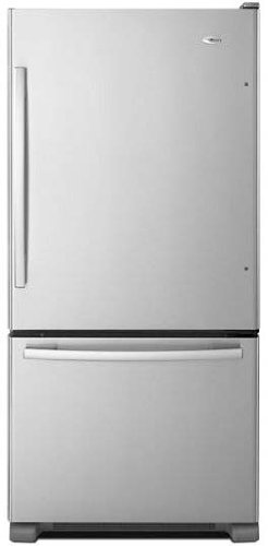 Amana ABB2224BRM 21.9 Cu. Ft. Stainless Steel Bottom Freezer Refrigerator - Energy Star by Amana