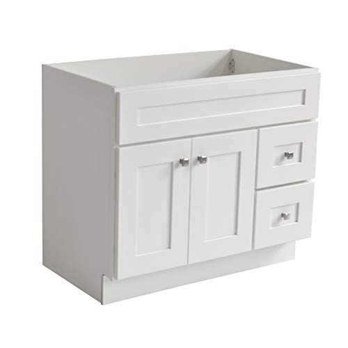 - Design House 559039 Brookings Unassembled 2-Door 2-Drawer Shaker Vanity 36x31.5x21, White