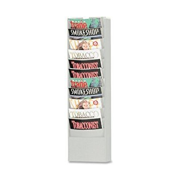 - Buddy Products Eclipse 11 Pocket Curved Steel Literature Rack, 4.5 x 36.375 x 9.75 Inches, Platinum (0862-32)