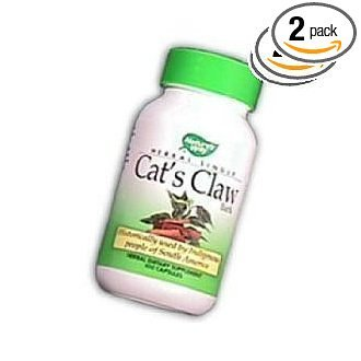 Nature's Way Cat's Claw, 100 Capsules 485 mg(Pack of 2)