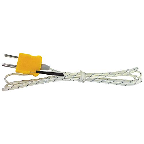 K-Type Thermocouple Replacement for Clamp and Digital Multi-Meters with Lead or Mini-Plug Inputs Klein Tools 69435