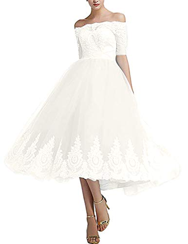 Monalia Womens's Tea Length Tulle Prom Cocktail Dresses Wedding Party Gowns Size 18 - Dress Tea Tulle Length Wedding